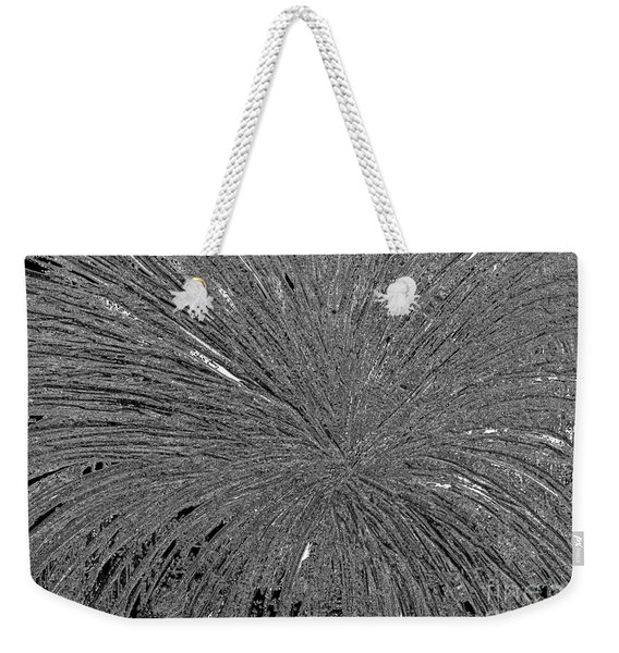 Weekender Tote Bag featuring the painting Abstract Black And White A182516 by Mas Art Studio