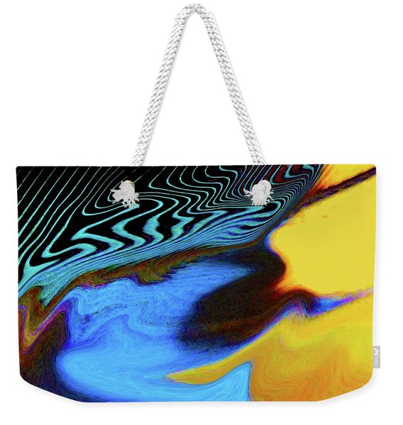 Abstract Blue Bird Feather Weekender Tote Bag