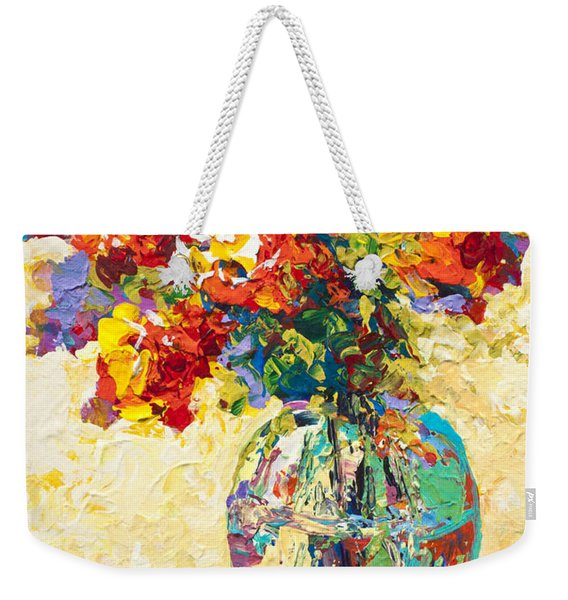 Abstract Boquet Iv Weekender Tote Bag