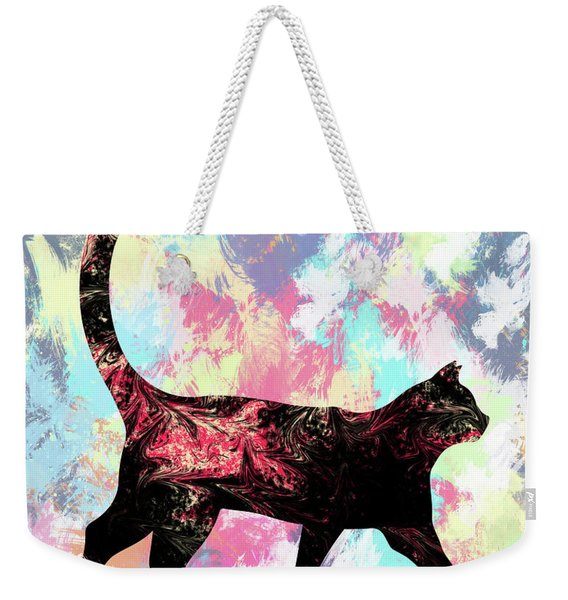 Abstract Cat  Weekender Tote Bag
