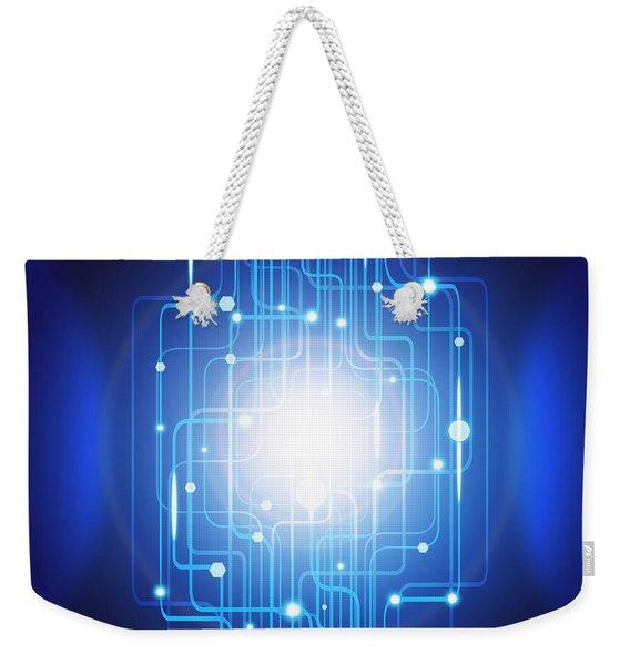 Abstract Circuit Board Lighting Effect  Weekender Tote Bag