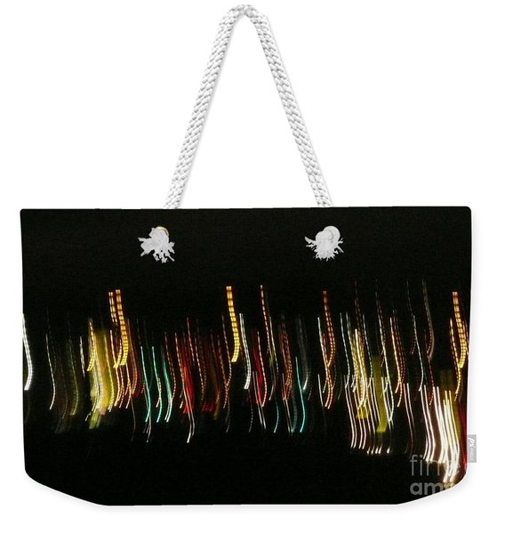 Abstract City Lights Weekender Tote Bag