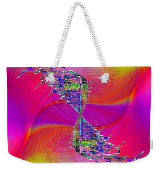 Abstract Cubed 377 Weekender Tote Bag