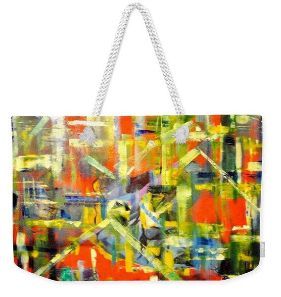 Lines And Colors Weekender Tote Bag