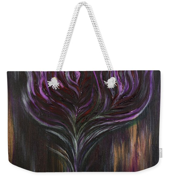 Abstract Dark Rose Weekender Tote Bag