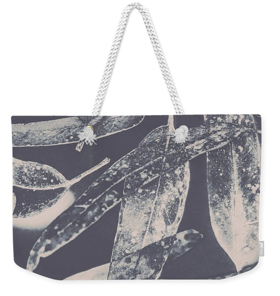 Abstract Design Tree Leaves Background Weekender Tote Bag
