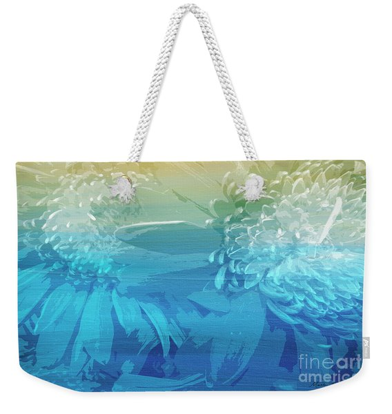 Weekender Tote Bag featuring the painting Abstract Floral Dl212016 by Mas Art Studio