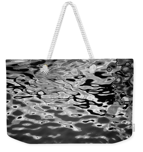 Abstract Dock Reflections I Bw Weekender Tote Bag