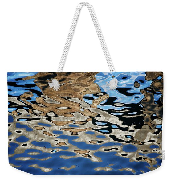 Abstract Dock Reflections I Color Weekender Tote Bag