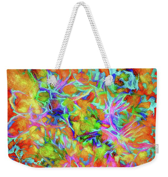 Abstract - Down The Garden Path Weekender Tote Bag