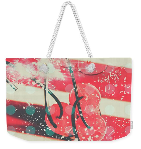 Abstract Dynamite Charge Weekender Tote Bag
