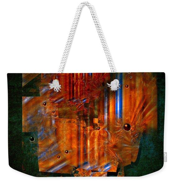 Abstract Fields Weekender Tote Bag