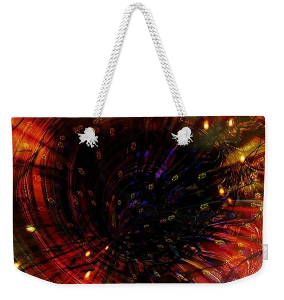 Abstract Fire  Flyer Nest Weekender Tote Bag