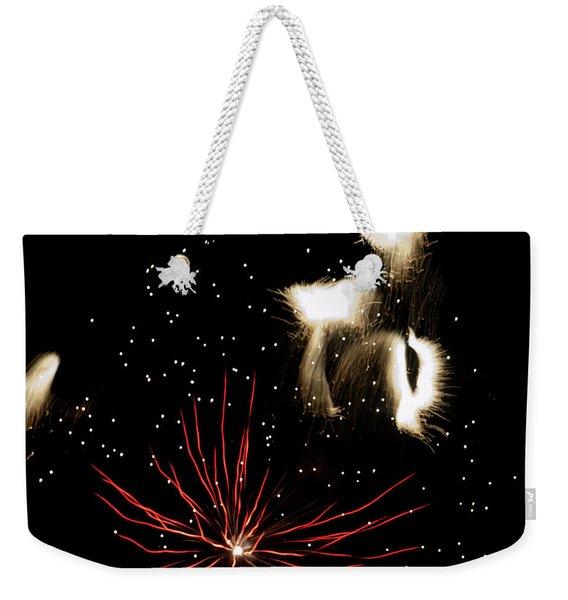 Abstract Fireworks IIi Weekender Tote Bag