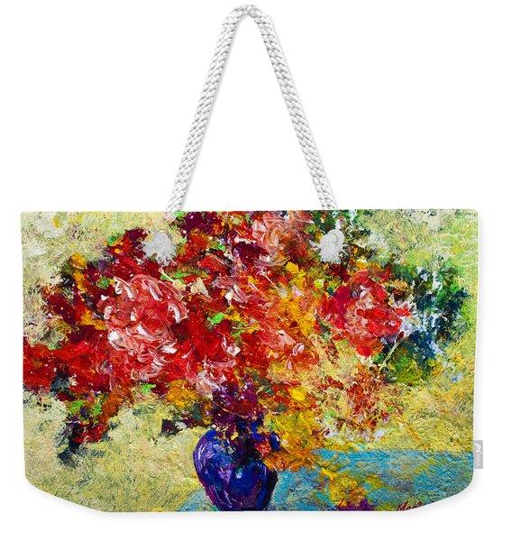 Abstract Floral 1 Weekender Tote Bag