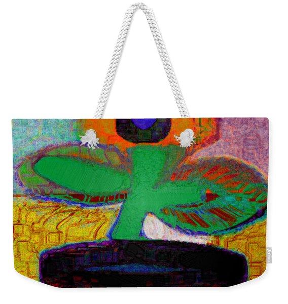 Abstract Floral Art 116 Weekender Tote Bag