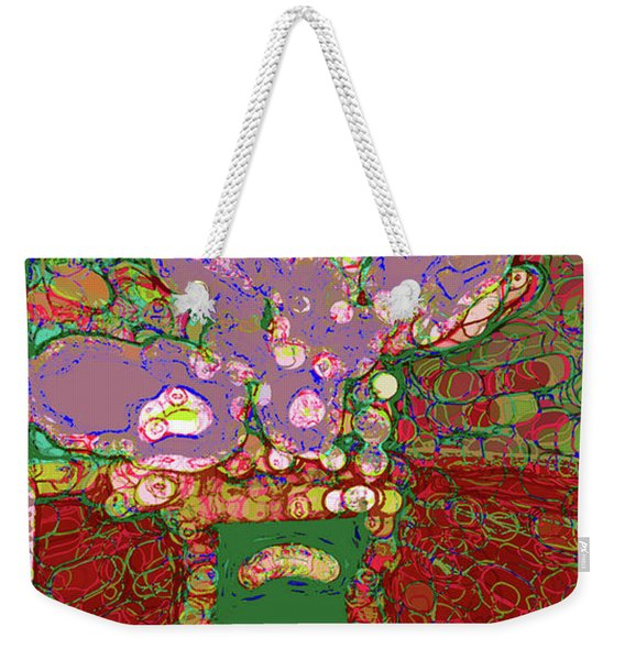 Abstract Floral Art 149 Weekender Tote Bag