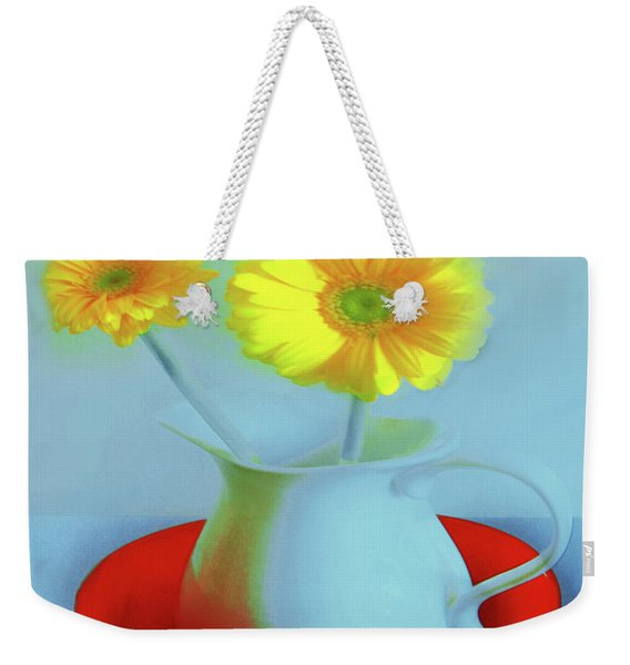 Abstract Floral Art 268 Weekender Tote Bag