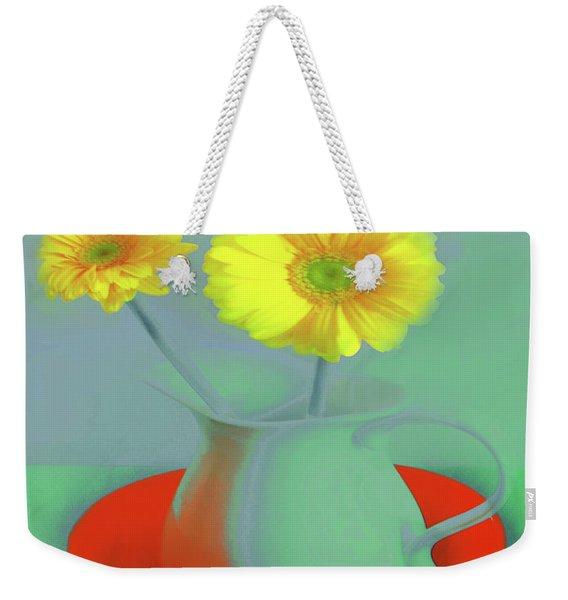 Abstract Floral Art 301 Weekender Tote Bag