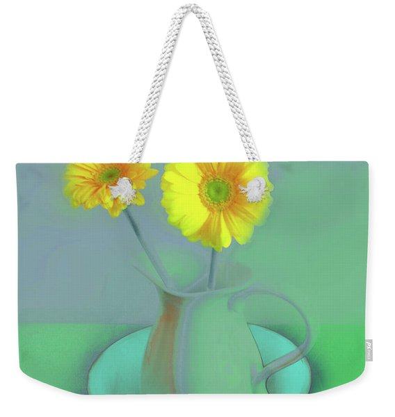 Abstract Floral Art 305 Weekender Tote Bag