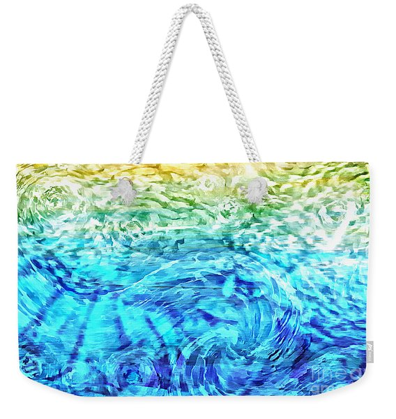 Weekender Tote Bag featuring the painting Abstract Floral Dl312016 by Mas Art Studio