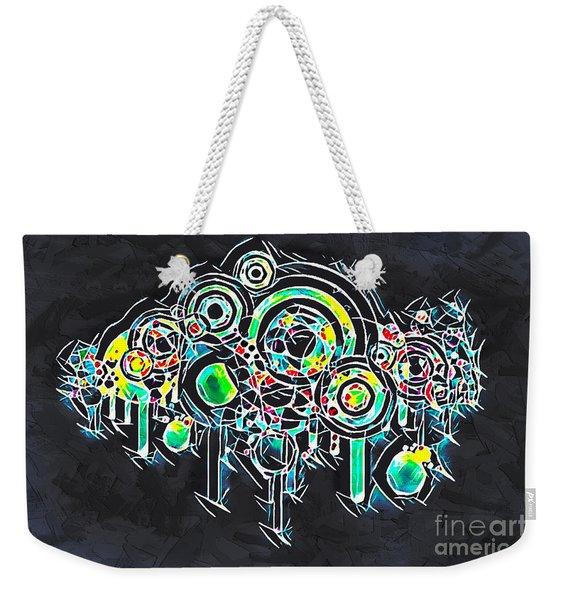 Abstract Floral Weekender Tote Bag