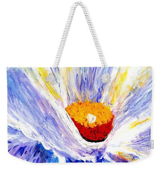 Abstract Floral Painting 001 Weekender Tote Bag