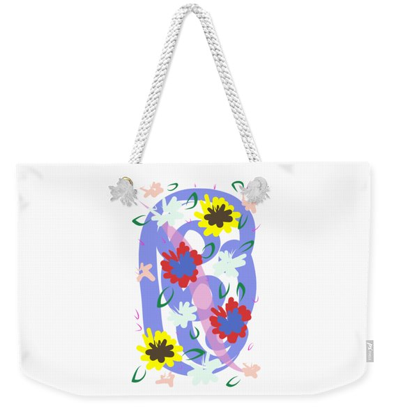 Weekender Tote Bag featuring the digital art Abstract Garden #1 by Bee-Bee Deigner