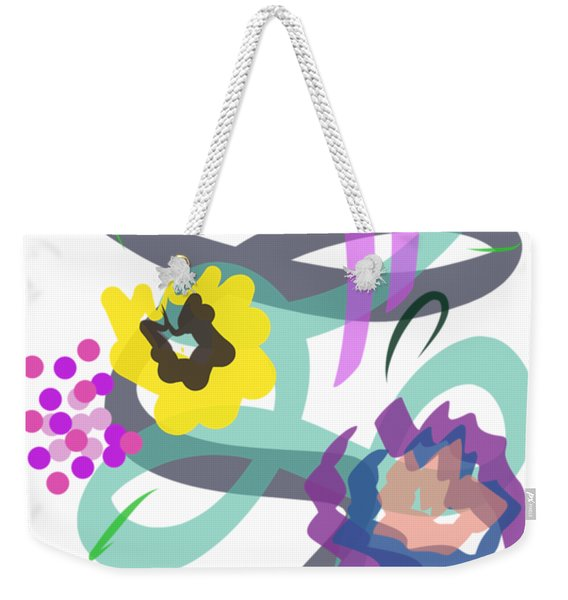 Weekender Tote Bag featuring the digital art Abstract Garden Nr 4 by Bee-Bee Deigner