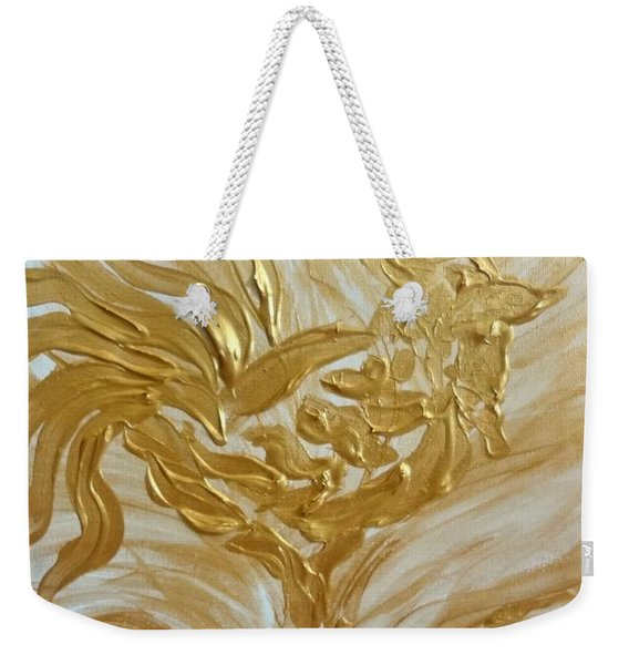Abstract Golden Rooster Weekender Tote Bag
