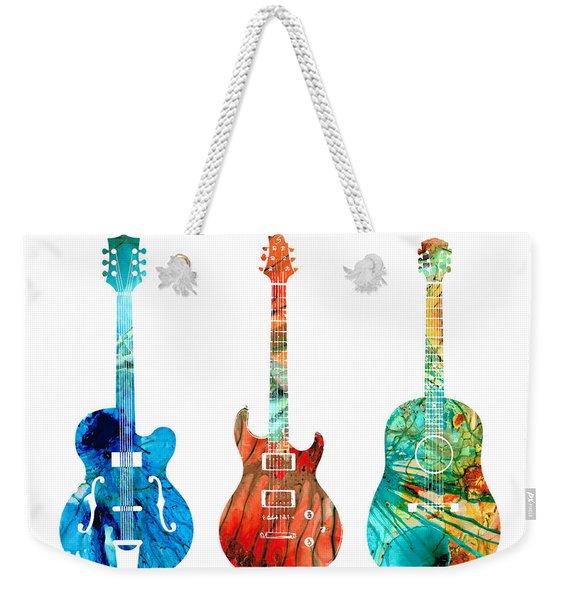 Abstract Guitars By Sharon Cummings Weekender Tote Bag
