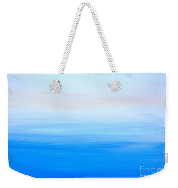 Weekender Tote Bag featuring the painting Abstract Hl312016 by Mas Art Studio