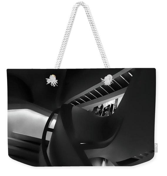 Abstract In Black Weekender Tote Bag