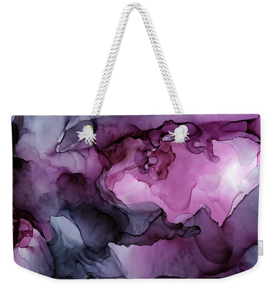 Abstract Ink Painting Plum Pink Ethereal Weekender Tote Bag