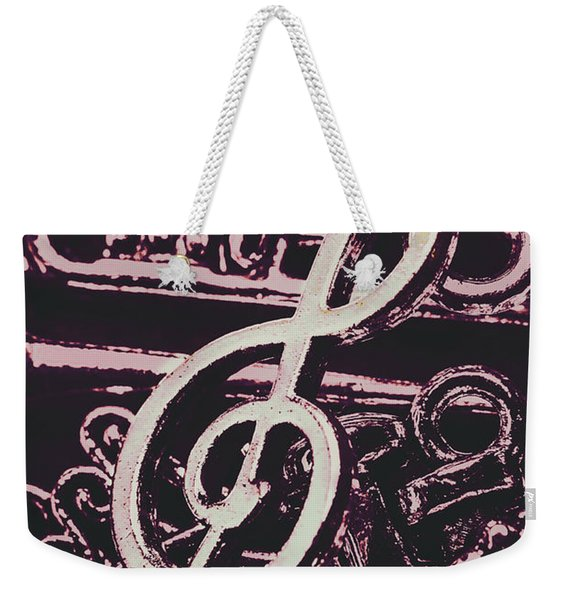 Abstract Instrument Stave Weekender Tote Bag