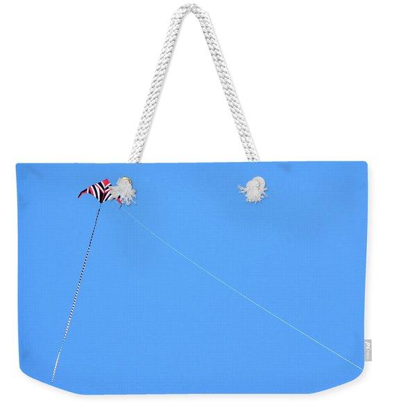 Abstract Kite Flying Weekender Tote Bag