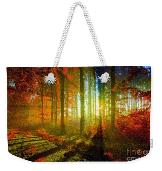 Abstract Landscape 0745 Weekender Tote Bag