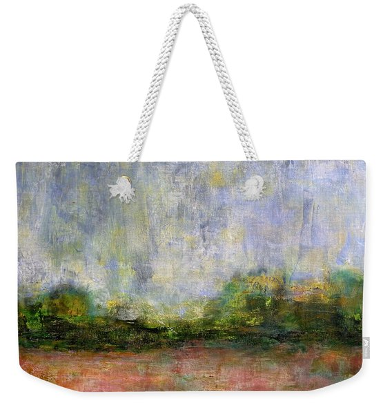 Abstract Landscape #310 - Spring Rain Weekender Tote Bag