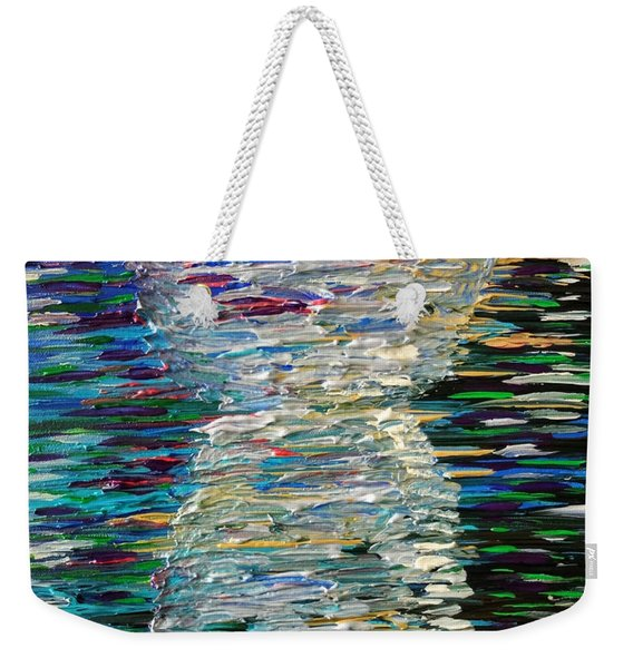Abstract Latte Stone Weekender Tote Bag