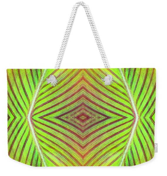 Abstract Leaf Pattern Weekender Tote Bag