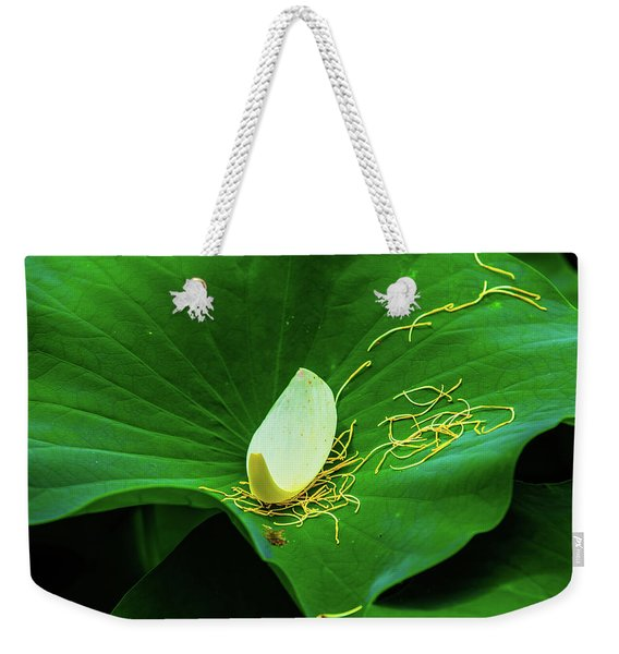 Abstract Leaves Of Green And Yellow Weekender Tote Bag
