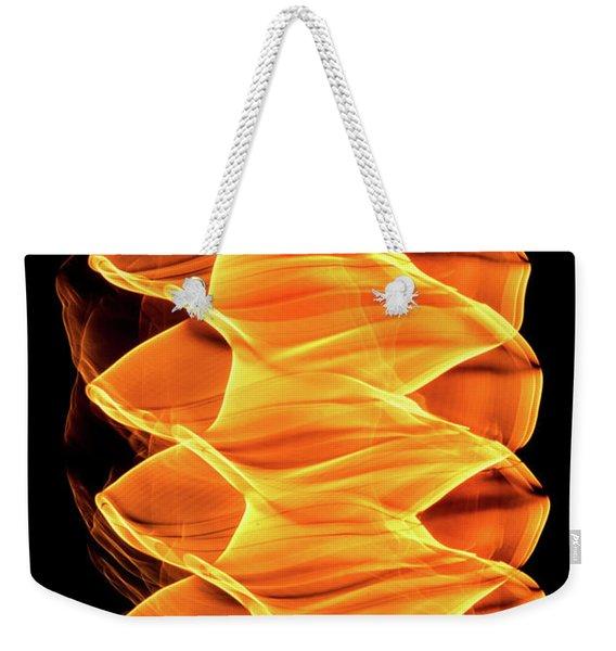 Abstract Light Number 2 Weekender Tote Bag