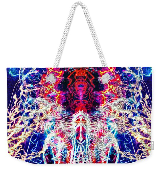 Abstract Lightpainting Oil Style Unique Poster Image Weekender Tote Bag