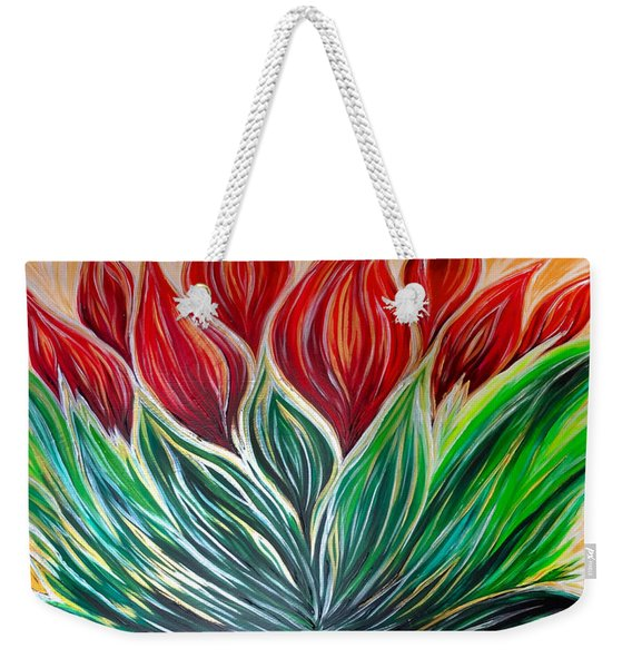 Abstract Lotus Weekender Tote Bag