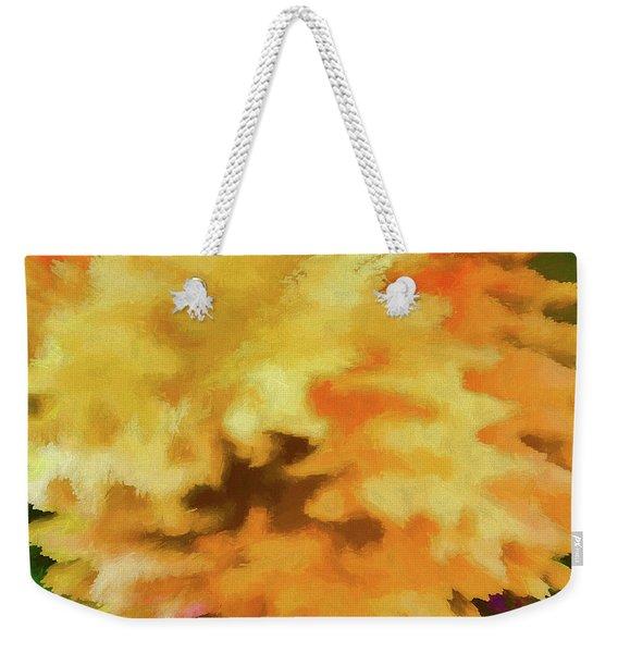Abstract - Marigold Weekender Tote Bag