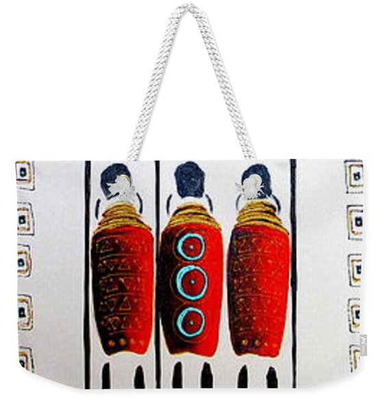 Abstract Masai Warriors Weekender Tote Bag