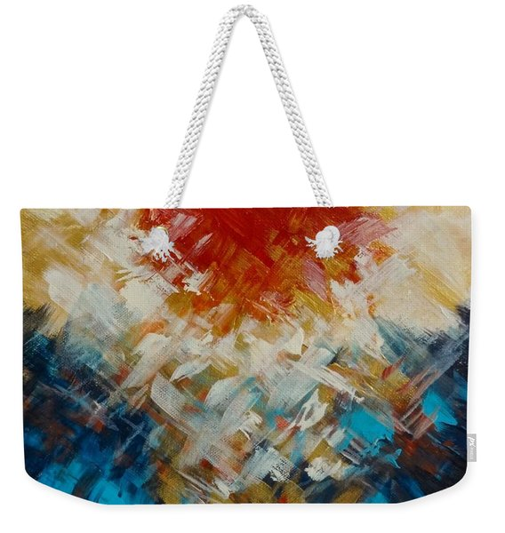 Abstract Blood Moon Weekender Tote Bag