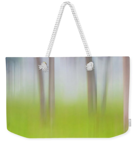 Abstract Moving Trees #1 Background Weekender Tote Bag