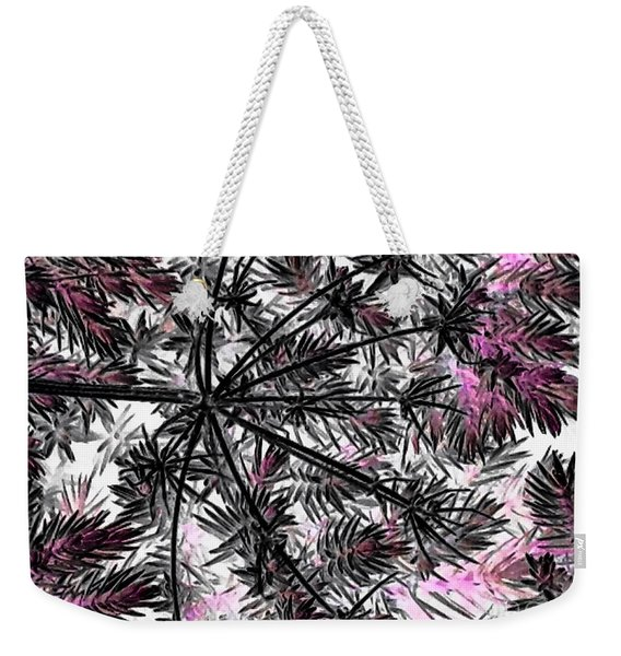 Abstract Of Ever Green Bush Weekender Tote Bag