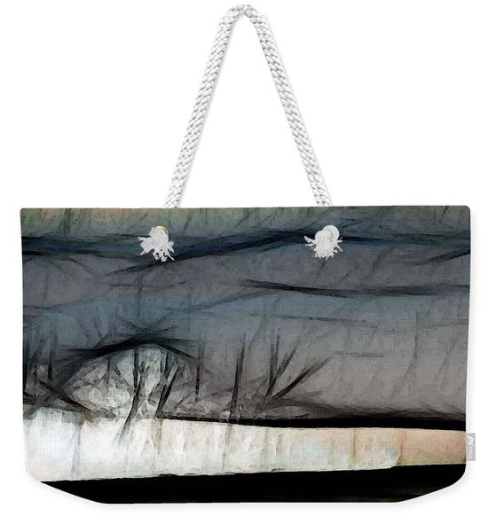 Abstract On River Weekender Tote Bag